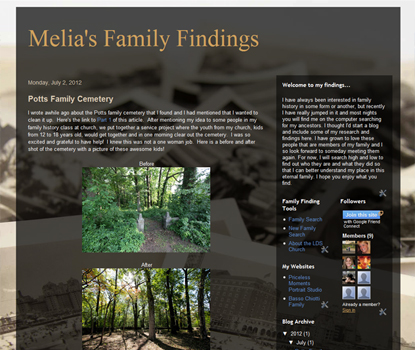 Melia's family findings