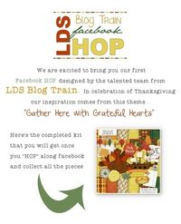 "Digital Scrapbook Freebie ""Giving Thanks"" and Facebook Hop"