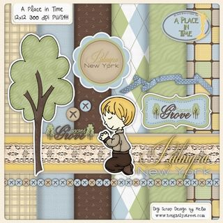 Brightly Street Digital Scrapbook Kit Boy Praying