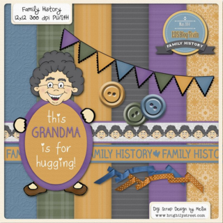 Brightly Street Family History Digital Scrapbook Freebie
