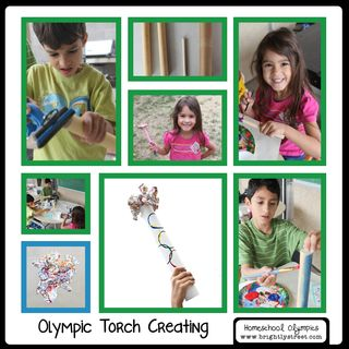 Brightly Street Homeschool Olympics Torch