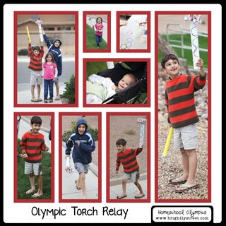 Brightly Street Homeschool Olympics Torch Relay