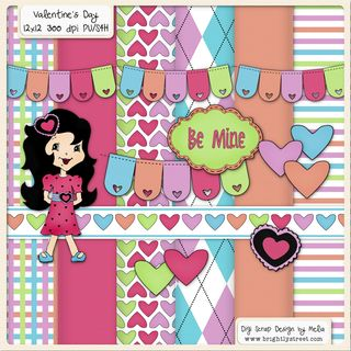 Valentine's Day Digital Scrapbook Kit Freebie