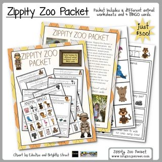Zoo Animal Packet sample