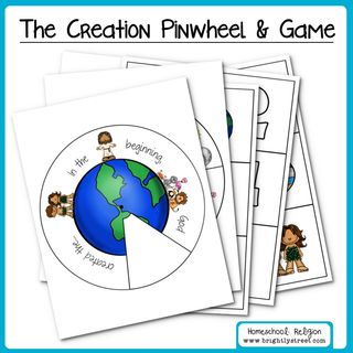 Homeschool: The Creation Pinwheel and Matching Game