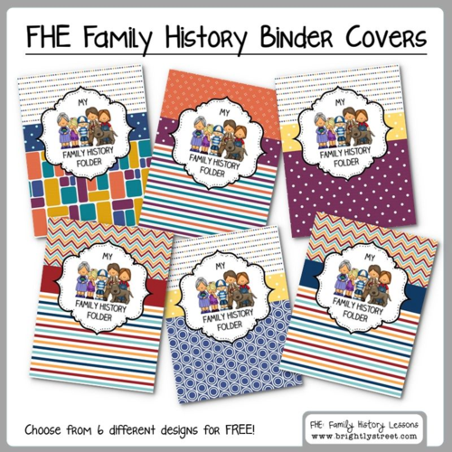 Brightly Street FHE Family History Binder Covers