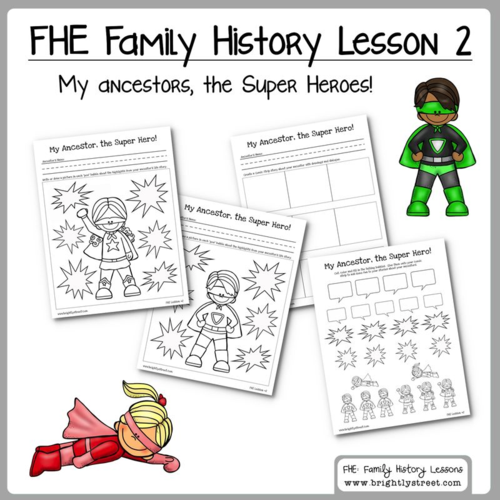 Brightly Street Family History FHE lesson 2 sample