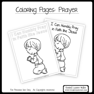 Brightly Street Coloring Page Prayer