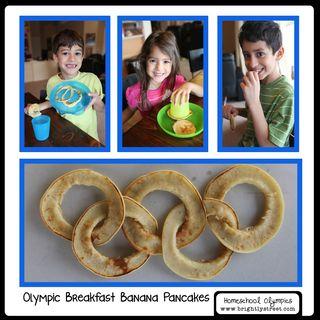 Brightly Street Homeschool Olympic Rings Pancakes