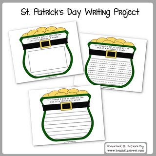 St. Patrick's Day Homeschool Writing Project