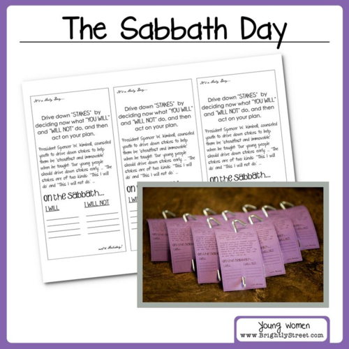 LDS Young Women Lesson Sabbath Day