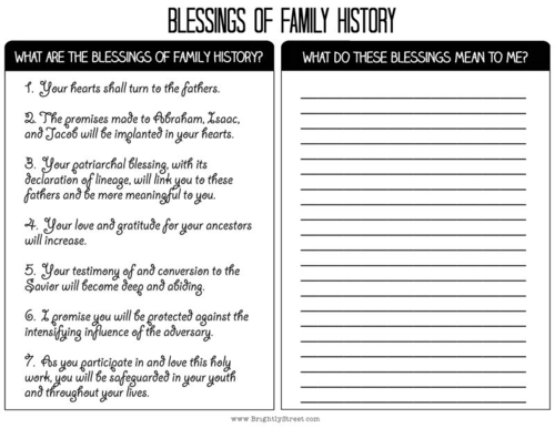Day 26:  Blessings of Family History