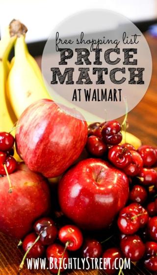 Price Match at Walmart Pinterest Pin