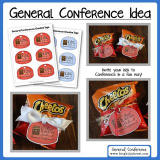 General Conference Cheetos Tag Invites