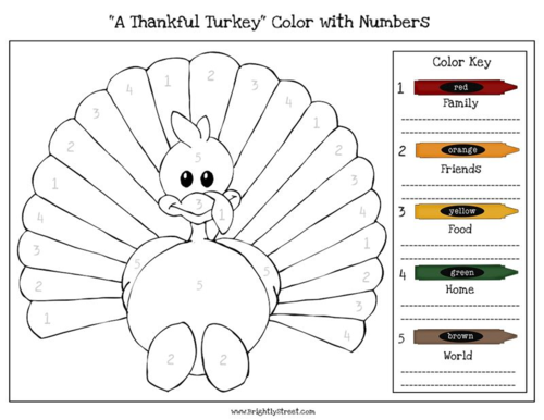 Thanksgiving Children Activity Worksheet coloring page