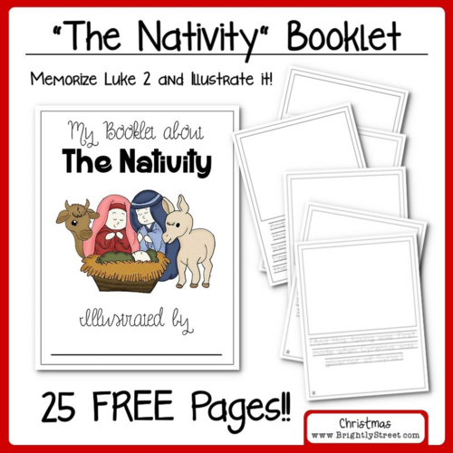 """Number Names Worksheets christmas booklets : LDS Blog Train """"A Christ Centered Christmas"""" (Brightly Street)"""