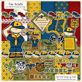Cub Scouts Digital Scrapbook Kit PREVIEW