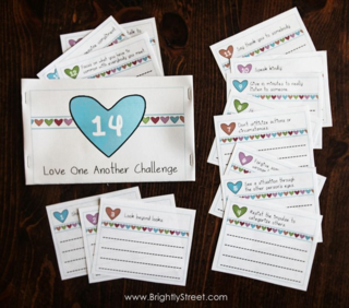 Love One Another 14 day challenge Valentines Day sample