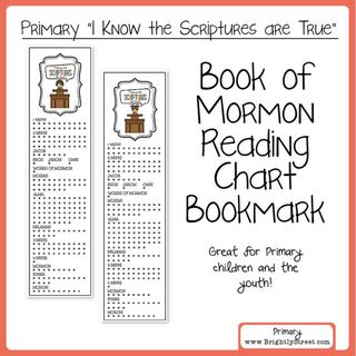 Book of Mormon bookmark
