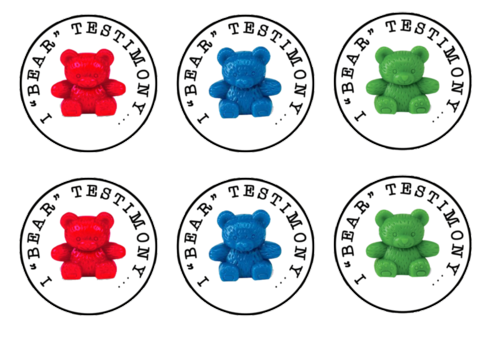 General Conference Bear Testimony Game Tags