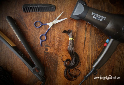 How to cut girl's hair