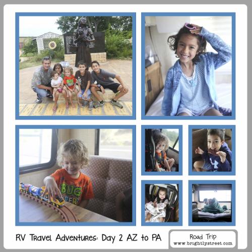 RV Road Trip Travel Adventures 5 kids Day 2 AZ to PA a