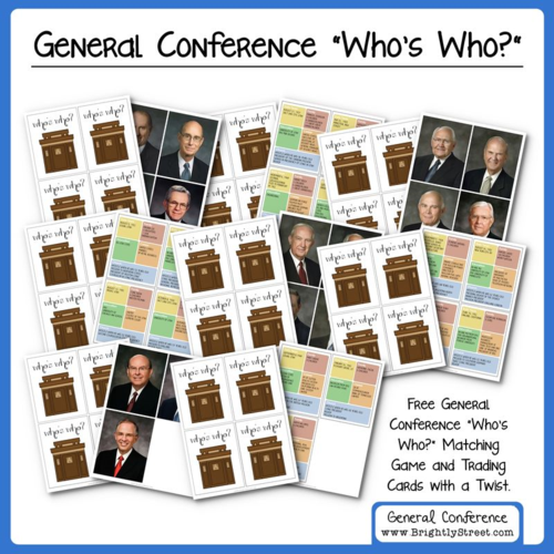 LDS General Conference Card Game