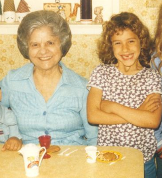 Tea Party with Grandma May 1985