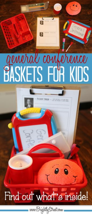 General Conference Baskets for Kids