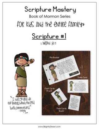 Scripture Mastery Book of Mormon 1 Nephi 3:7