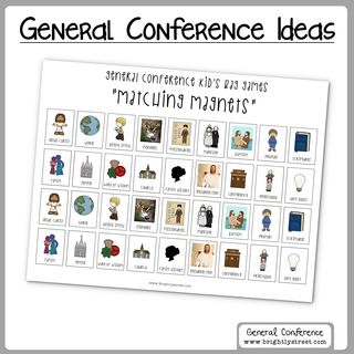 LDS General Conference ideas for kids