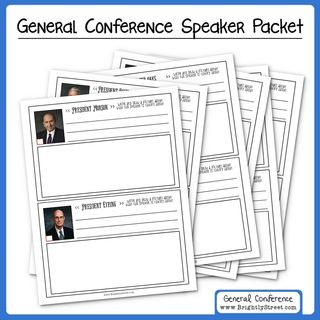 General Conference Speaker Packet preview