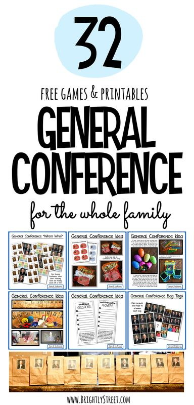 32 Ideas for General Conference Weekend