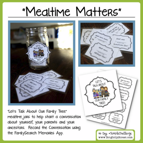 Family History Mealtime Matters Conversation Jars