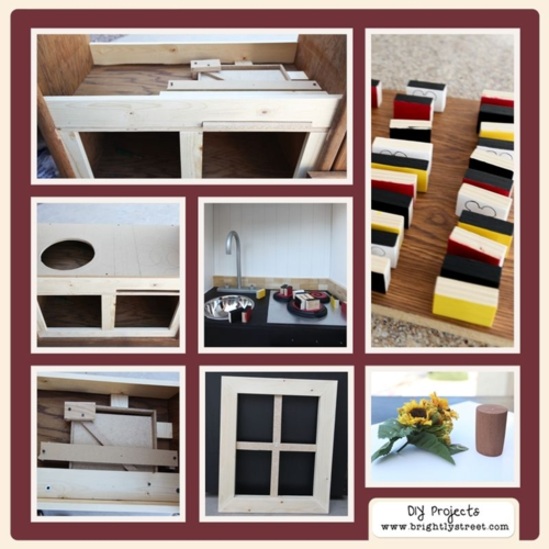 DIY Play Kitchen from entertainment center