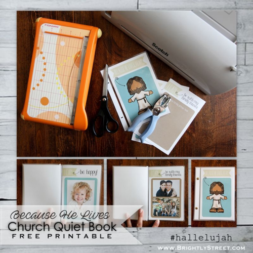 #hallelujah Easter Campaign church quiet book printable BrightlyStreet.com sample