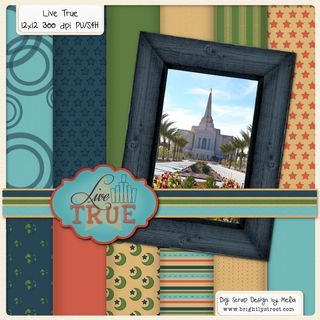 Live True Temple Digital Scrapbook Easter #hallelujah