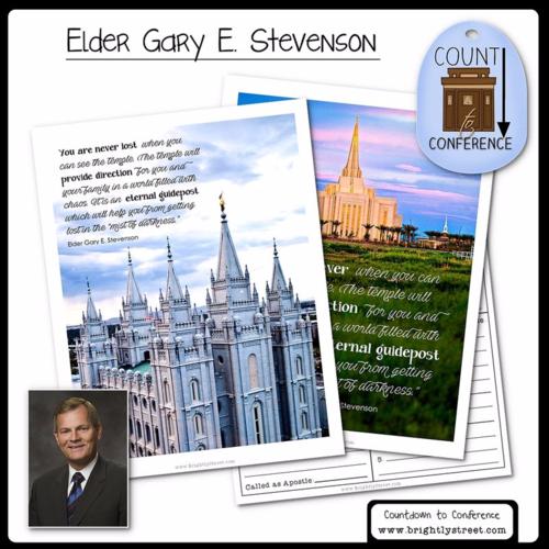 General Conference Ideas temples Elder Stevenson
