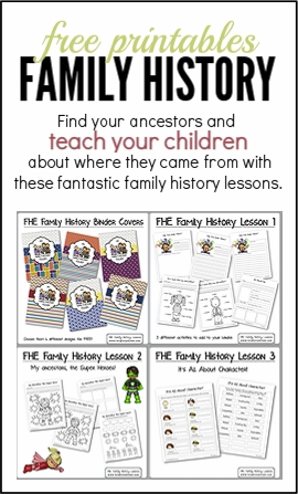 Family History free printables