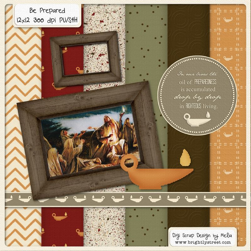LDS Blog Train Digital Scrapbook Be Prepared