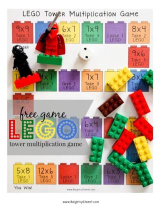 Lego Math Game Freebie
