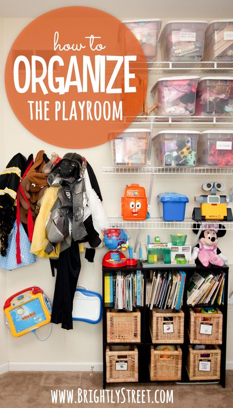 How to Organize the Playroom pin