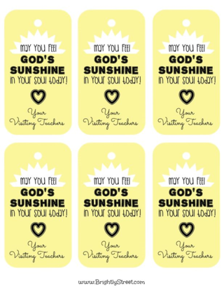 Visiting Teaching Ideas There is Sunshine in My Soul Today 001 (Cover 1)