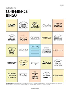 General Conference Bingo Youth