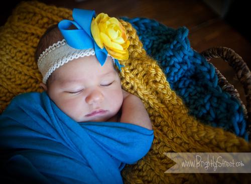 Brightly Street newborn portraits