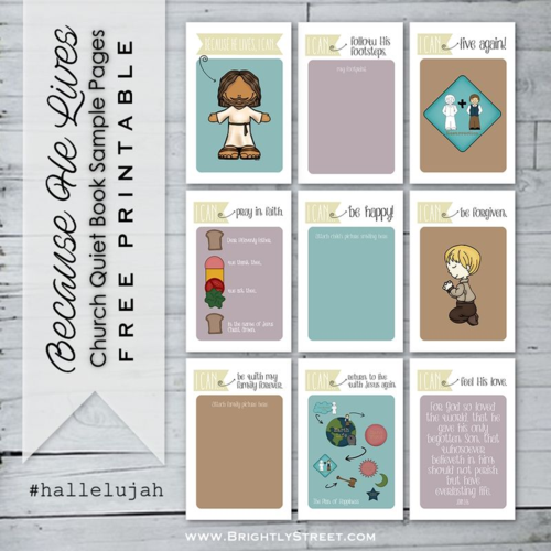 #hallelujah Easter Campaign church quiet book printable BrightlyStreet.com sample pages