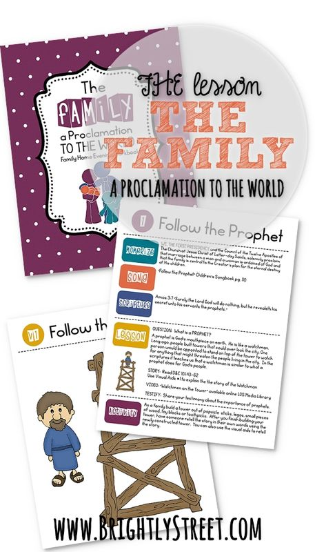 The Family A Proclamation to the World FHE Lesson 1 Pin