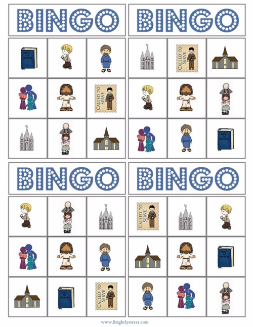 General Conference Bingo Cards from BrightlyStreet.com