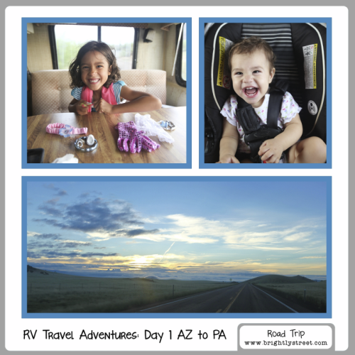 RV Road Trip Travel Adventures 5 kids Day1 AZ to PA