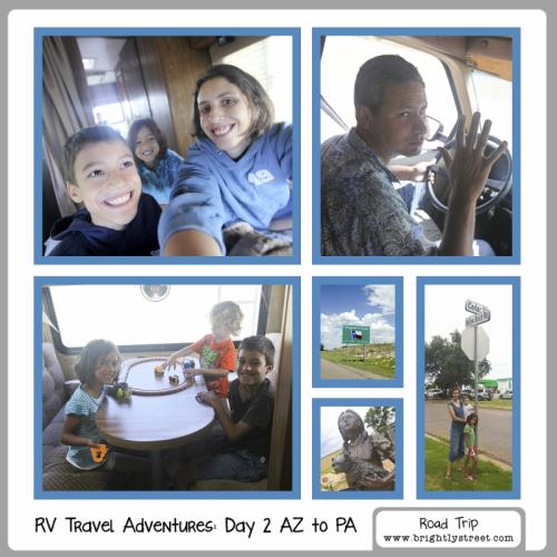 RV Road Trip Travel Adventures 5 kids Day 2 AZ to PA